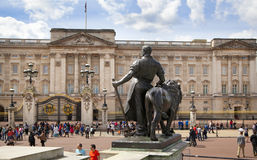Buckingham Palace the official residence of Queen Elizabeth II and one of the major tourist destination Royalty Free Stock Photography
