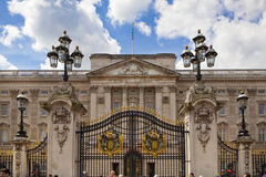 Buckingham Palace the official residence of Queen Elizabeth II and one of the major tourist destination. LONDON, UK - MAY 14, 2014: Buckingham Palace the Stock Photos