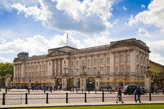 Buckingham Palace the official residence of Queen Elizabeth II and one of the major tourist destination. LONDON, UK - MAY 14, 2014: Buckingham Palace the stock image