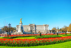 Buckingham palace panoramic overview in London, United Kingdom Stock Photography