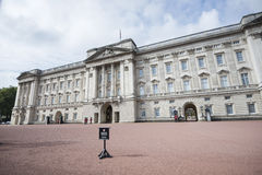 Buckingham Palace and Queen's Guard Stock Images