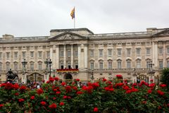 Buckingham palace on the Queens official birthday Royalty Free Stock Photography