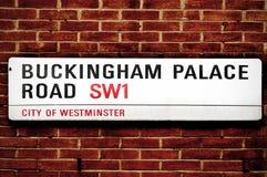 Buckingham Palace Road, in London, United Kingdom stock photography