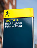 Buckingham palace road sign in London Royalty Free Stock Photos
