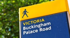 Buckingham Palace road sign Stock Photo