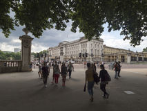 Buckingham Palace seen from the Green park Stock Images