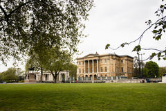 Buckingham Palace seen from Hyde Park, London, UK Stock Photos