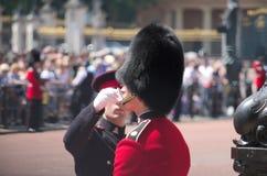 Buckingham Palace strażnik Zdjęcia Royalty Free