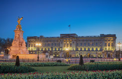 Buckingham Palace during twilight Stock Photos