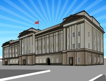 The Buckingham Palace. Vector Illustration of the Buckingham Palace in London AI Illustrator file available. Separate Layers. High res Stock Image