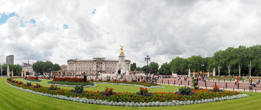 Buckingham Palace and Victoria Memorial, the home of the Queen of England, London, summer 2016 Royalty Free Stock Photo
