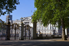 Buckingham Palace viewed from Green Park Stock Image