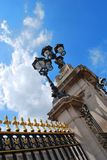 The Buckingham Palace. This was taken in front of the Buckingham Palace. During day time Royalty Free Stock Photography