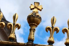 Buckingham Palace-Zaun Stockbild