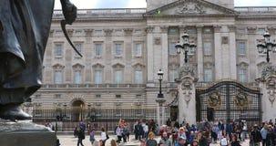 Buckingham Palacevoorgevel stock videobeelden