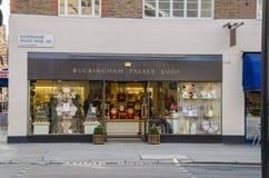 Buckingham Platzgeschäft Stockfotos