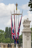 Buckingham. Union Jacks on The Mall Stock Photography