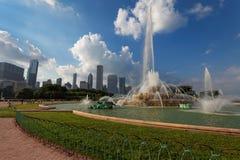 Buckinghamfontein in Grant Park, Chicago, de V.S. Stock Fotografie