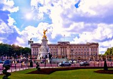 buckinghamlondon slott Royaltyfria Bilder