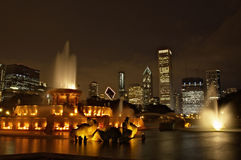 Buckinham Fountain in Chicago Stock Photography