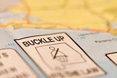 Buckl vers le haut de panneau d'avertissement Image libre de droits