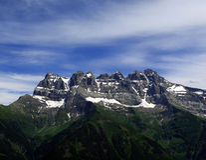 bucklar du midi switzerland Arkivbild