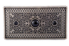 Buckle. The woman's belt with beautiful buckle isolated background Stock Image