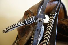 Buckle on a bridle. Royalty Free Stock Images