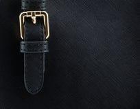 buckle on leather bag Stock Photos