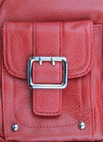Buckle of leather purse Royalty Free Stock Photography