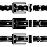 Buckle quilted belt black symbols Royalty Free Stock Image