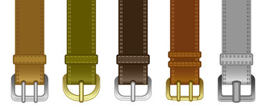 Buckle set. On a white background Stock Images