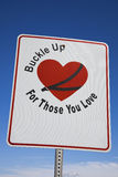 Buckle Up!. Road sign seen in Kentucky Royalty Free Stock Images