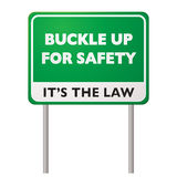 Buckle up road sign Stock Image