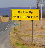 Buckle up road sign Stock Photography