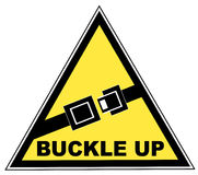 Buckle up seatbelt sign Royalty Free Stock Photos