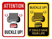 Buckle up signs Stock Photos