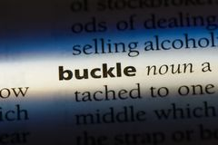 Buckle. Word in a dictionary.  concept Royalty Free Stock Photo