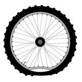 Buckled Bicycle Wheel Stock Image