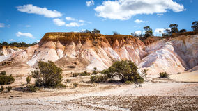Buckleys Breakaway - A Painted Desert. Not far from the well known and frequently visited Wave Rock near Hyden in Western Australia, Buckleys Breakaway is a stock photos