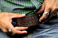 Buckling the belt Stock Photography