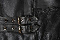 Bucklor för läderomslag royaltyfri bild