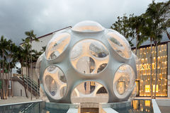Buckminster Fuller Dome in Midtown Miami. MIAMI, FL - DECEMBER 31 2014 - Miami's central art district in the Wynwood and Edgewater neighborhoods features an Royalty Free Stock Photography