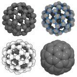 Buckminsterfullerene (buckyball, C60) Immagini Stock Libere da Diritti