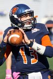 Bucknell Bison Quarterback Trey Lauletta Fotos de Stock Royalty Free
