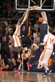 Bucknell's  Nana Foulland dunks Royalty Free Stock Image