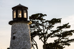 Buckroe Beach Lighthoust at Dusk Stock Image