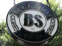 Buckshot Shot Bar Sign Stock Photo