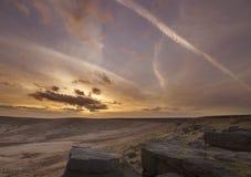 Buckstone edge sunset Royalty Free Stock Photo