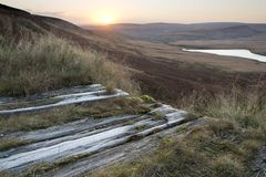 Buckstones Moss Sunrise Fotografia Stock